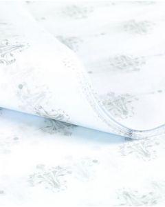 Silkepapir m/mønster i lysegrå - 100 ark