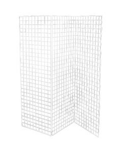 Grind, 50 x 150 cm, HVIT - 3 stk.