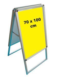 A-skilti, ál. 70 x 100 cm