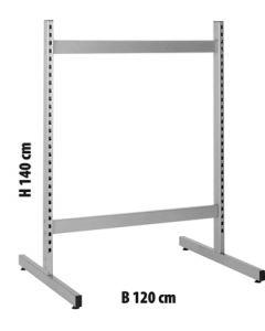 T-gólfstandur - H 140 x B 120 sm
