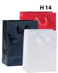Pappírspokar - Hágljáandi - H 14 sm. - 12 stk.